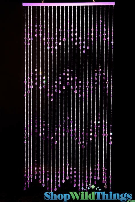 beaded door curtain purple