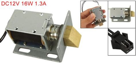 Uxcell Dc 12v Open Frame Type Solenoid For Electric Door