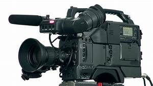 Professional Digital Video Camera  Isolated Stock Footage Video  100  Royalty
