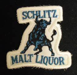 Schlitz Malt Liquor Bull Beer Uniform Patch