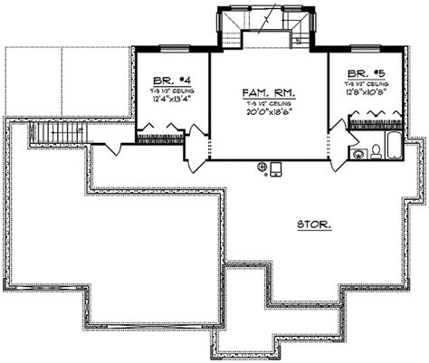 cainelle craftsman ranch home plan   house plans