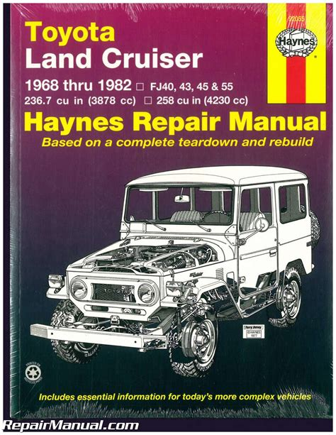free car repair manuals 2005 toyota land cruiser spare parts catalogs haynes toyota land cruiser 1968 1982 auto repair manual