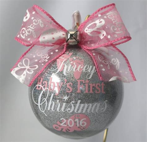 baby s ornament personalized with any year - Baby First Christmas Personalized Ornament