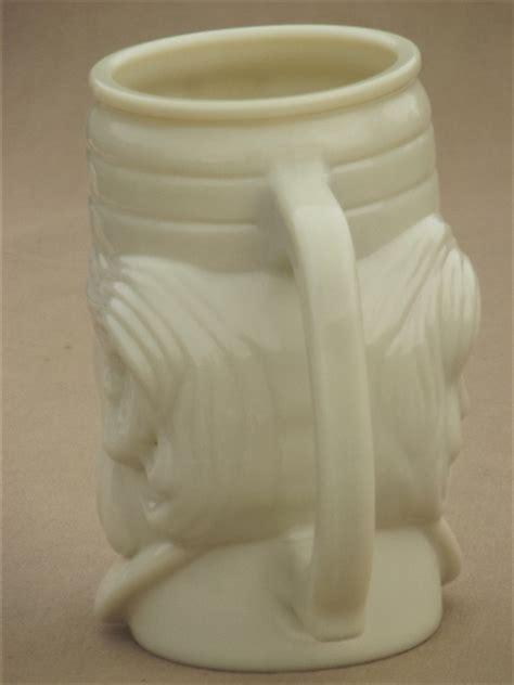 vintage avon custard milk glass mustache mug casey