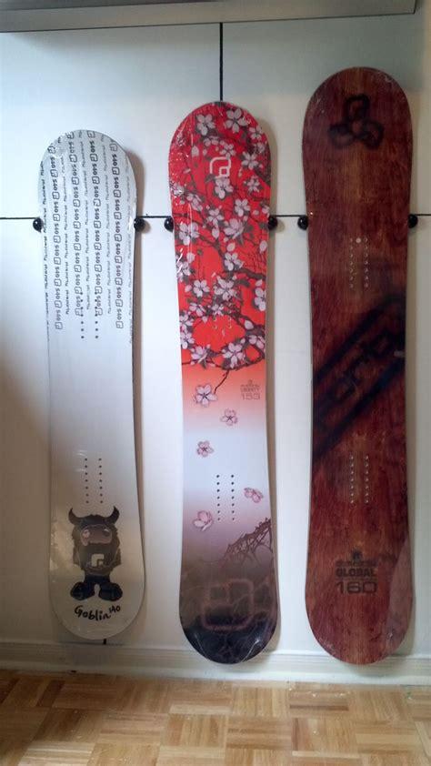 snowboard wall mount snowboard racks pinterest