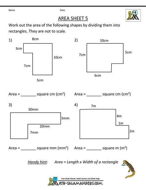 area  irregular shapes worksheet mucho bene