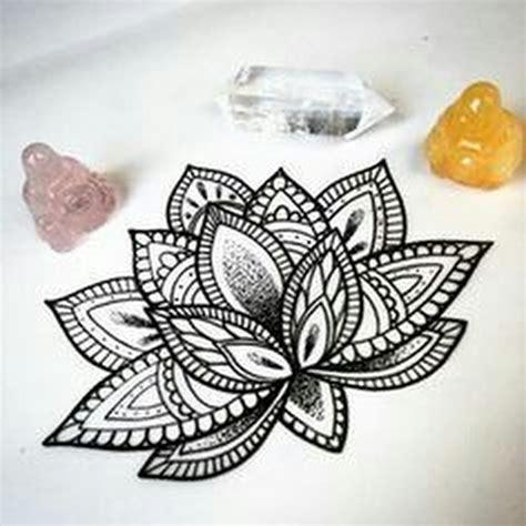 mandala lotus tattoos ideas