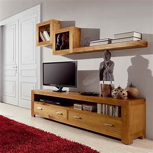 Etagere Salon Design : tag re murale en bois exotique beaubois id es d co ~ Teatrodelosmanantiales.com Idées de Décoration