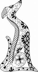 Greyhound Whippet Tattoo Mandala Dog Italian Celtic Silhouette Lurcher Hound Dogs Levrier Deviantart Lotusartstudio Tattoos Chien Zentangle Grey Perro Kunst sketch template