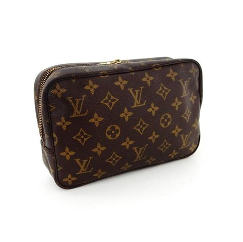 louis vuitton brown trousse vintage  monogram canvas