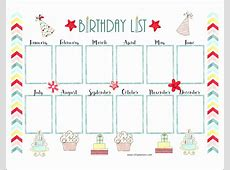 14 Free Birthday Calendar Template Excel ExcelTemplates