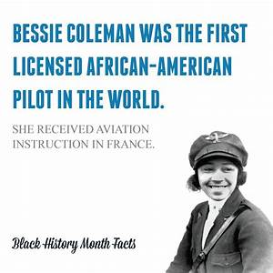 Bessie Coleman, Black Female pilot in the 1920s. The US ...