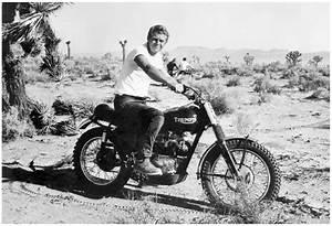 STEVE McQUEEN DOIN' IT IN THE DIRT   TRIUMPH DESERT BIKE ...