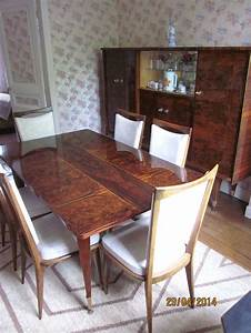 salle a manger annees 70 en louppe d39acajou vernis ebay With salle a manger annee 70