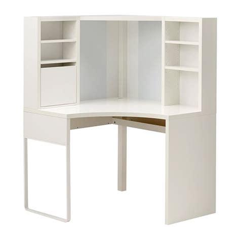 bureau d angle ikea micke poste de travail d 39 angle blanc 100x141 cm ikea