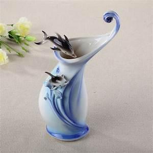 Ceramic, Dolphin, Flowers, Vase, Designs, Home, Decor, Large, Floor, Vases, For, Wedding, Decoration, Ceramic