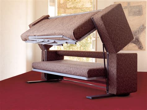 that turns into a bunk bed innovative multifunctional sofa by designer giulio manzoni