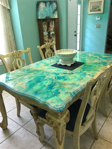 resin painted dining room table painted dining room