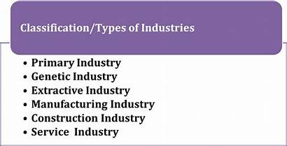 Types Industries Industry Classification Primary Business Manufacturing