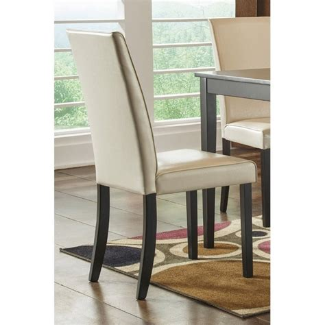 kimonte faux leather dining side chair in ivory