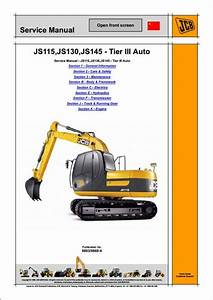 Jcb Js115 Js130 Js145  U2013 Tier Iii Auto Tracked Excavators Service Repair Manual