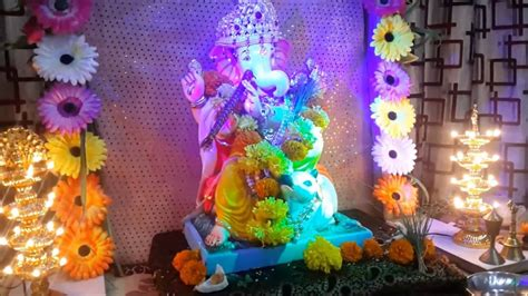 Garden Decoration For Ganpati by How To Make Diy Flower Canopy Decoration For Ganpati
