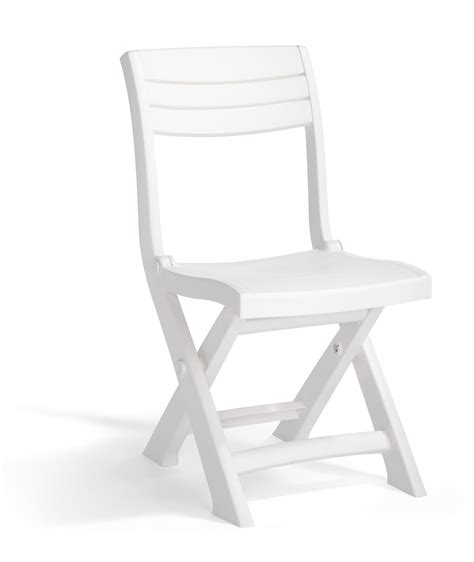 chaise allibert allibert tacoma bistro chair white allibert