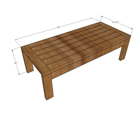 I'm so excited to share this super duper easy and cheap project with you! 2x4 Outdoor Coffee Table   Ana White
