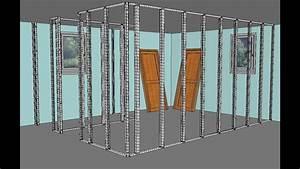 Poser Placo Mur Avec Rail : cloisons placo pl tre comment faire youtube ~ Melissatoandfro.com Idées de Décoration