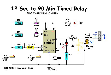 Timed Relay Seconds Minutes