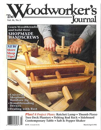 woodworkers journal marchapril  woodworking