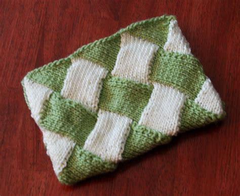 entrelac pouch  knitting pattern