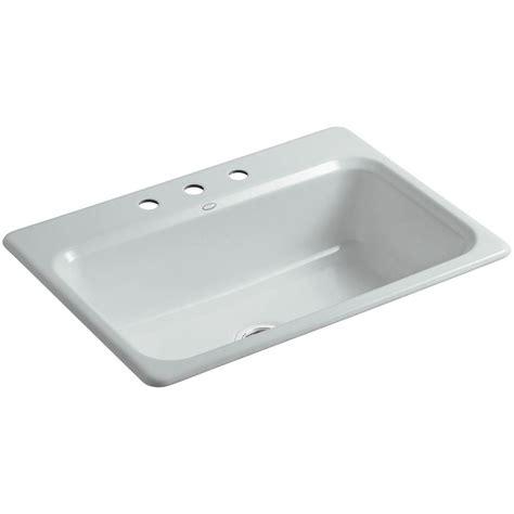 single bowl cast iron kitchen sink kohler bakersfield drop in cast iron 31 in 4 single 9301