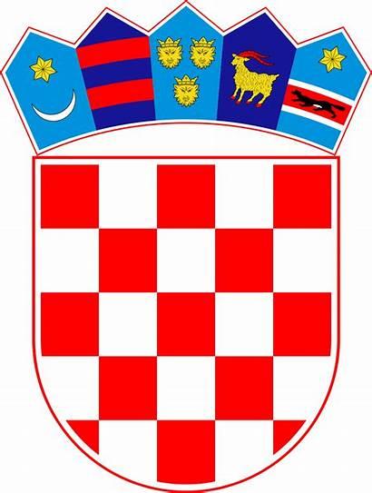 Grb Hrvatske Arms Coat Croatia Svg Wiki