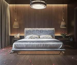 mur en bois pour une deco originale de chambre a coucher With chambre bébé design avec bouquet fleurs en bois