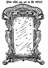 Mirror Coloring Potter Harry Erised Clipart Crest Drawings Birthday Template Ravenclaw Colouring Hufflepuff Activity Normal Movies Sketch Transparent Library Gryffindor sketch template