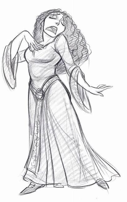 Gothel Mother Tangled Cartoon Concept Kim Character