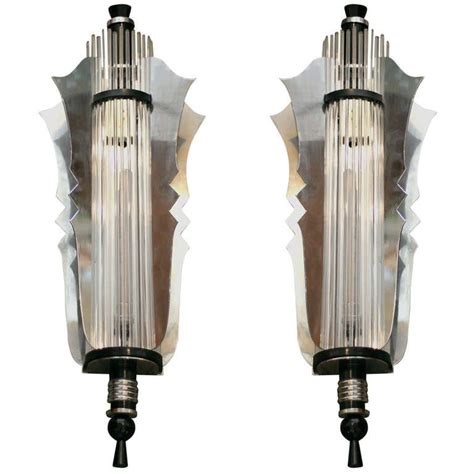 deco wall sconces grand theater deco wall sconce pair at 1stdibs