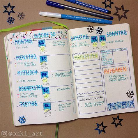 tagebuch selbst gestalten bullet journal wochen 252 bersicht 50 ideen kalender wochenplaner und tagebuch
