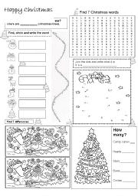 christmas activity sheet esl worksheet  jennifer
