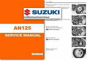 Suzuki An125 Workshop Service Shop Manual Burgman An 125