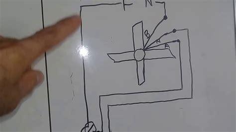 diagrama para conectar un abanico de techo separando motor y luces con interruptores sencillos