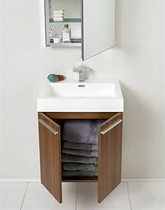 Petit Meuble Salle De Bain : mini salle de bain astuces pour son am nagement ~ Teatrodelosmanantiales.com Idées de Décoration