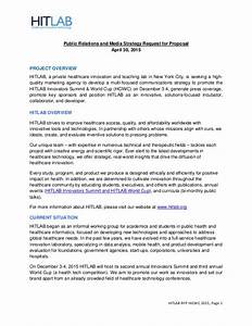 hitlab seeks a public relations firm request for proposal With pr rfp template