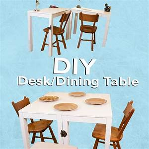 This Diy Convertible Desk  Dining Table Is Perfect For