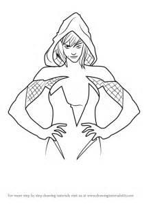 learn   draw gwendolyne stacy marvel comics step