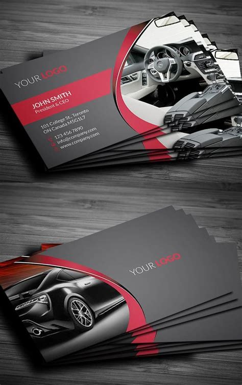 rent  car business card design cars cards business