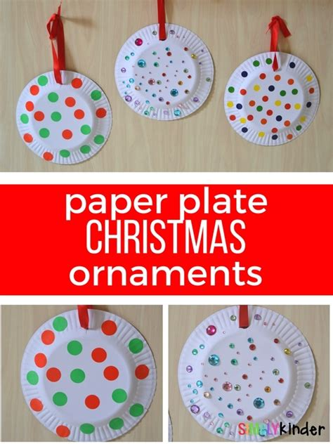 paper plate christmas ornaments simply kinder