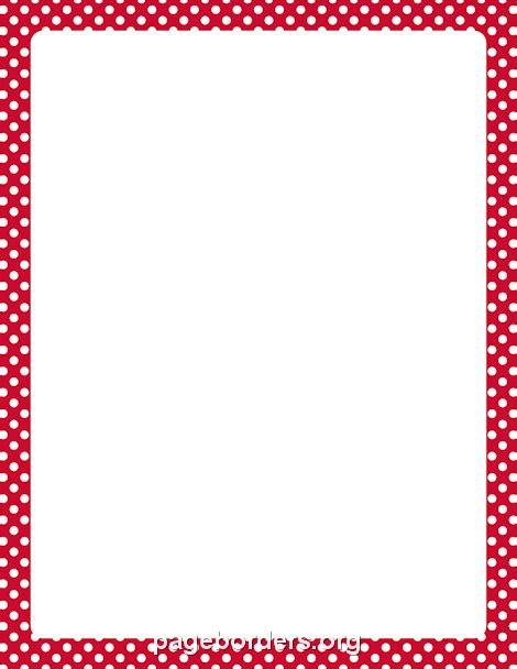 red  white polka dot border clip art page border