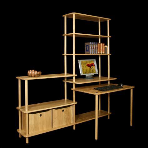 meuble bibliothèque bureau intégré bureau avec etagere